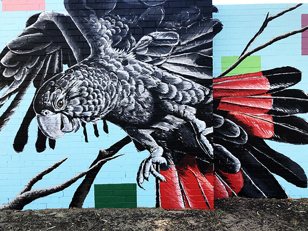 Mural by local artist Brenton See